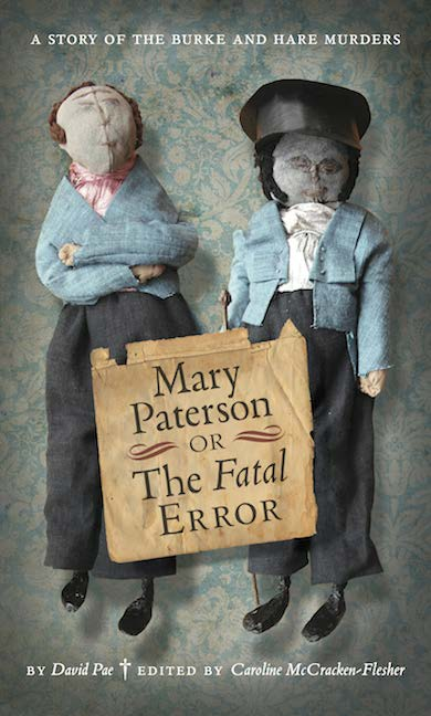 Mary Paterson or The Fatal Error: Book cover featuring Mary's dolls of Burke and Hare